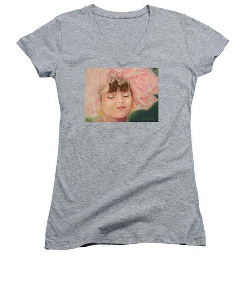 Sassy In Tulle Women's V-Neck T-Shirt