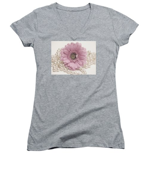 Say It With Pearls Women's V-Neck