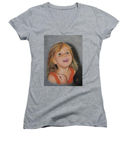 Scarlet Rose Women's V-Neck T-Shirt