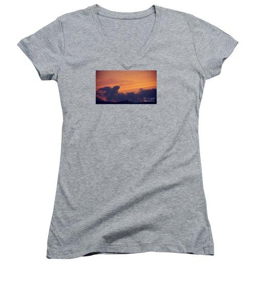 Scenic Sunset Women's V-Neck (Athletic Fit)
