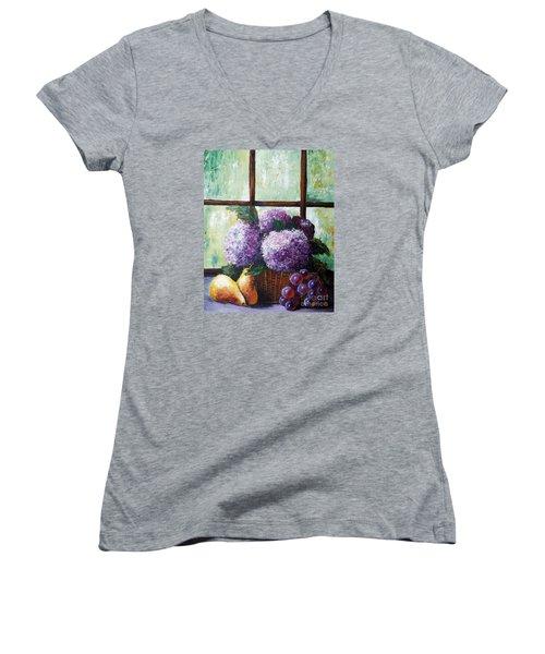 Scent Of Memories Women's V-Neck T-Shirt (Junior Cut) by Vesna Martinjak