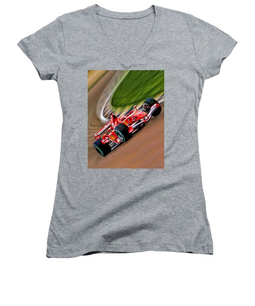 Schumacher Bend Women's V-Neck T-Shirt
