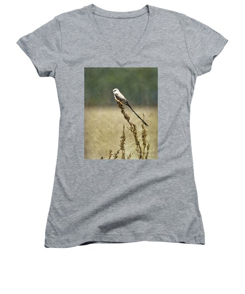 Scissortailed-flycatcher Women's V-Neck (Athletic Fit)