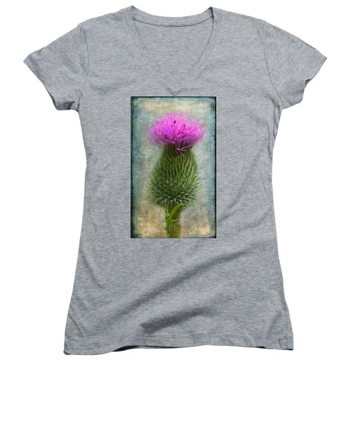 Scotch Thistle Women's V-Neck