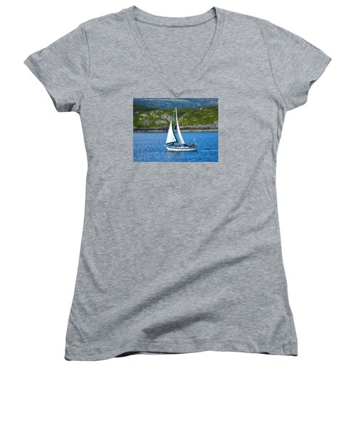 Scottish Sails Women's V-Neck T-Shirt