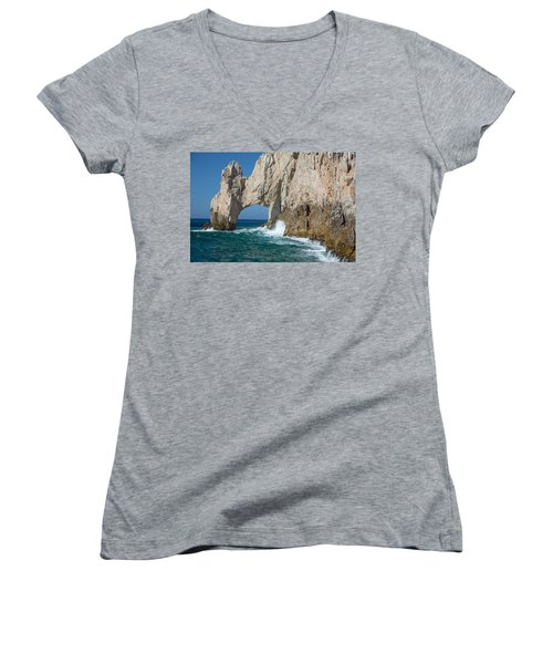 Sea Arch El Arco De Cabo San Lucas Women's V-Neck (Athletic Fit)