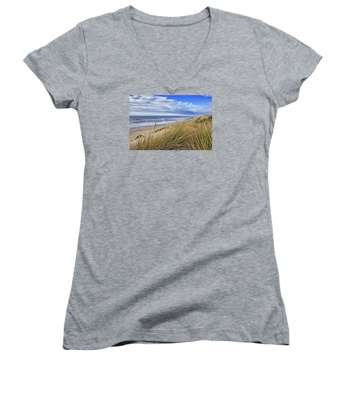 Sea Grass And Sand Dunes Women's V-Neck (Athletic Fit)