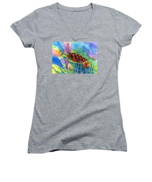 Sea Turtle Women's V-Neck