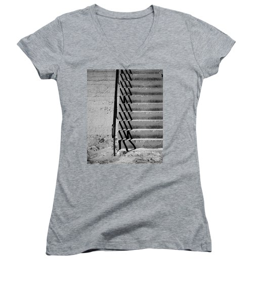 Sea Wall Steps Women's V-Neck T-Shirt