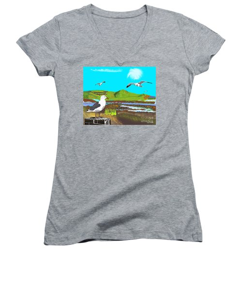 Seagulls Women's V-Neck (Athletic Fit)