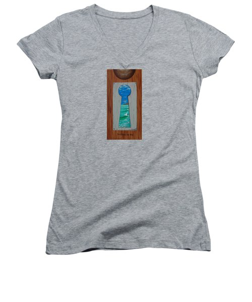 Search For The Key Women's V-Neck (Athletic Fit)