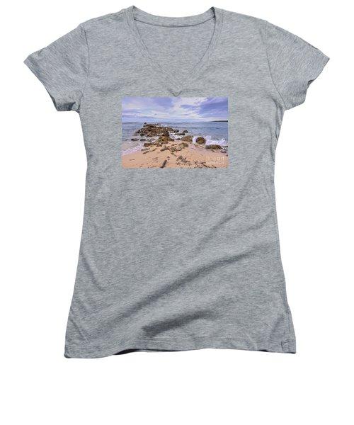 Seascape With Rocks Women's V-Neck