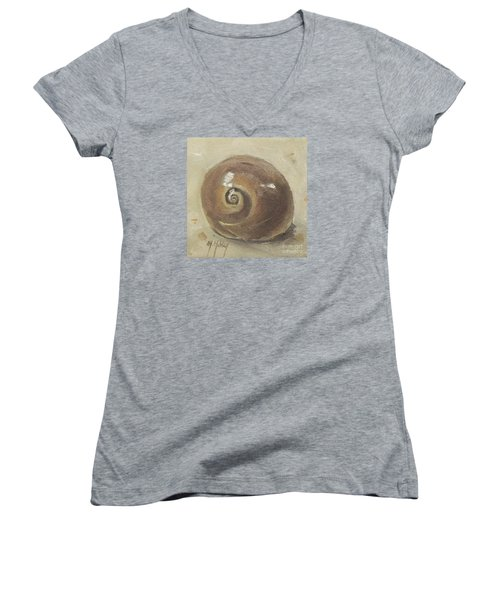 Seashell Beach Moon Shell Snail  Women's V-Neck T-Shirt