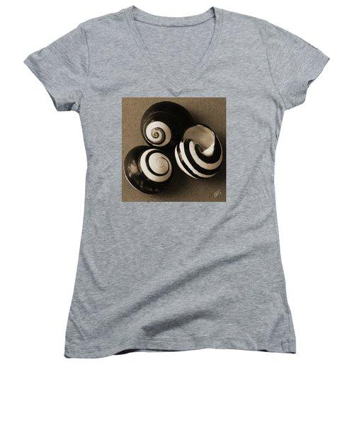 Seashells Spectacular No 27 Women's V-Neck T-Shirt (Junior Cut) by Ben and Raisa Gertsberg