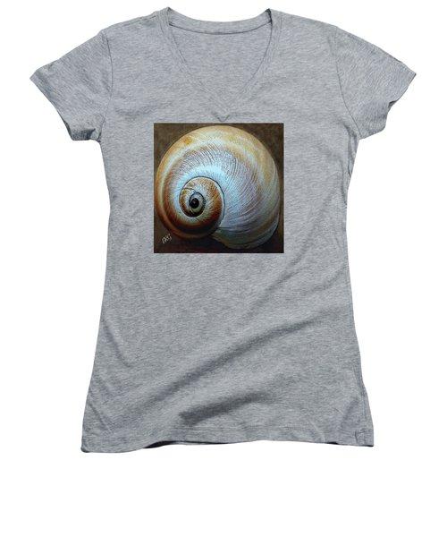 Seashells Spectacular No 36 Women's V-Neck T-Shirt (Junior Cut) by Ben and Raisa Gertsberg