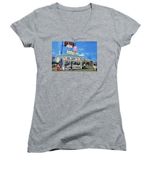 Seaside Memories Women's V-Neck (Athletic Fit)
