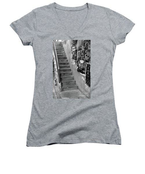 Seattle Stairs Women's V-Neck (Athletic Fit)