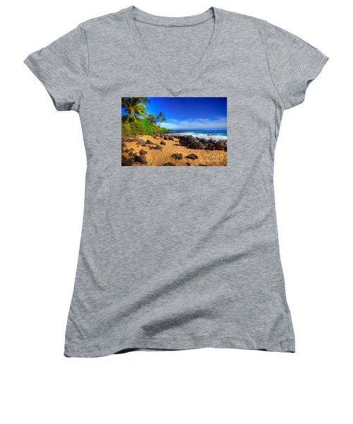 Secret Beach Maui Women's V-Neck T-Shirt