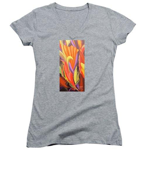 Secret Place Women's V-Neck T-Shirt (Junior Cut) by Glory Wood