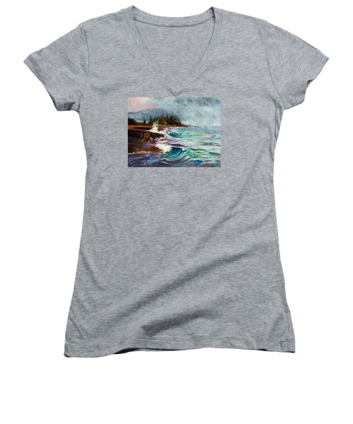 September Storm Lake Superior Women's V-Neck (Athletic Fit)
