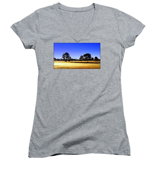 Women's V-Neck T-Shirt (Junior Cut) featuring the photograph Serendipity by Faith Williams
