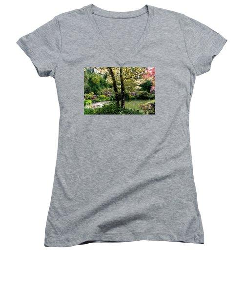 Serene Garden Retreat Women's V-Neck