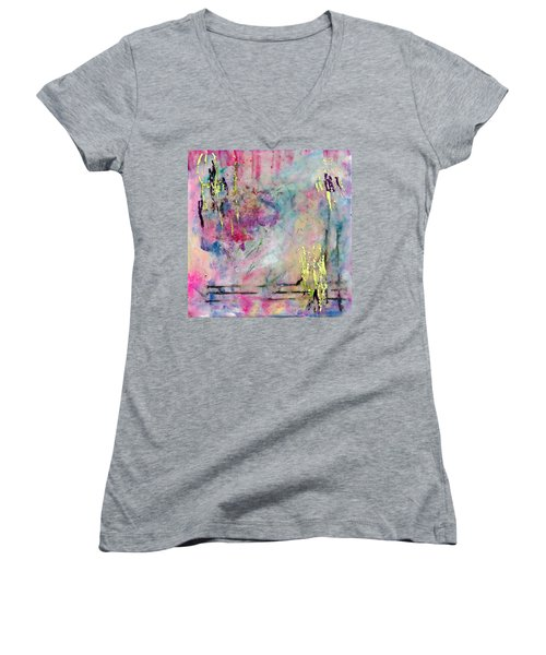 Serene Mist Encaustic Women's V-Neck