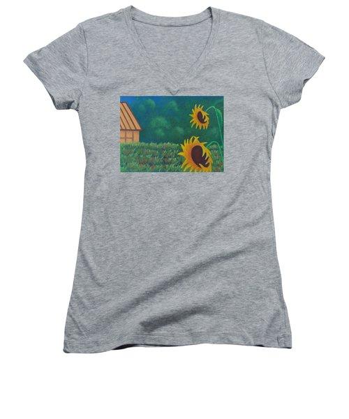 Sergi's Sunflowers Women's V-Neck
