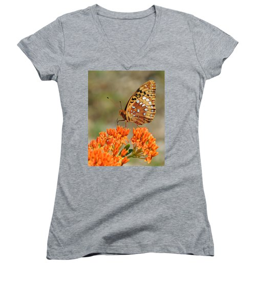 Shades Of Orange Women's V-Neck