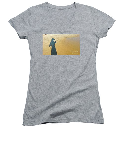 Shadow And Sand Raw Women's V-Neck