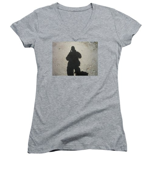 Shadow In Afghanistan  Women's V-Neck (Athletic Fit)