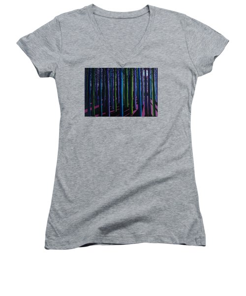 Shadows And Moonlight Women's V-Neck T-Shirt