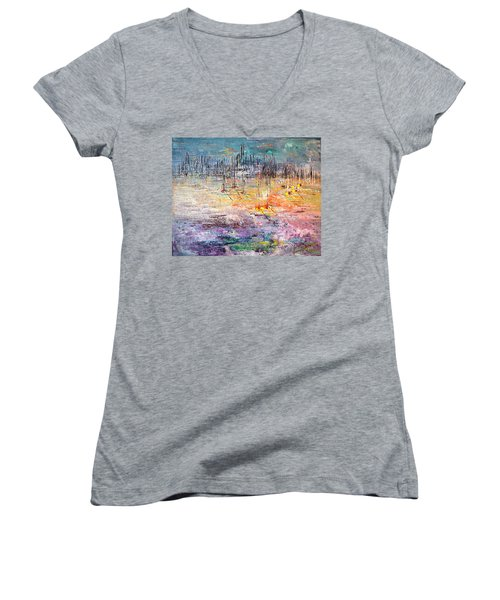 Shallow Water - Sold Women's V-Neck T-Shirt (Junior Cut) by George Riney