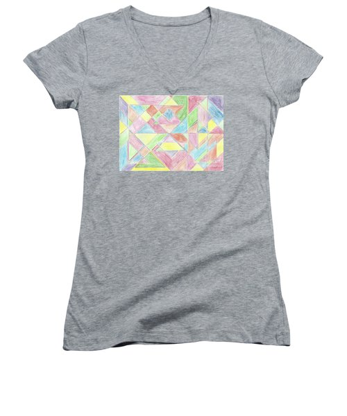 Shapes Of Colour Women's V-Neck (Athletic Fit)