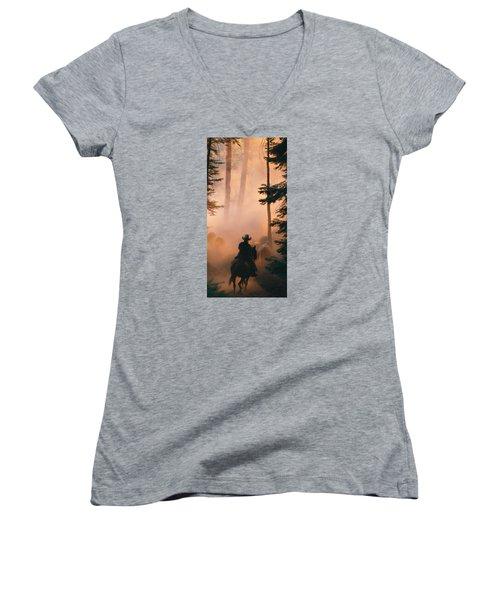 Shayna Women's V-Neck T-Shirt (Junior Cut) by Diane Bohna