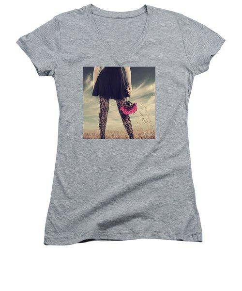 She's Got Legs Women's V-Neck (Athletic Fit)