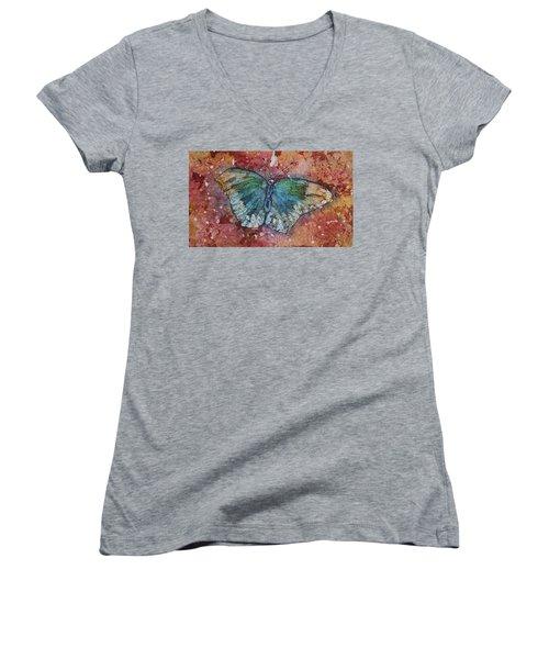 Shimmer Wings Women's V-Neck T-Shirt