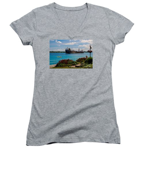 Ship And Kayaks Women's V-Neck (Athletic Fit)
