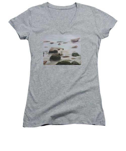 Shirley's Dog Women's V-Neck T-Shirt (Junior Cut) by Martin Howard
