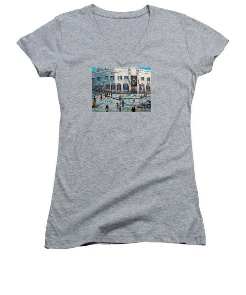 Shopping At Grover Cronin Women's V-Neck T-Shirt (Junior Cut) by Rita Brown