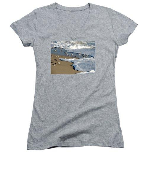 Shore Birds South Florida Women's V-Neck T-Shirt