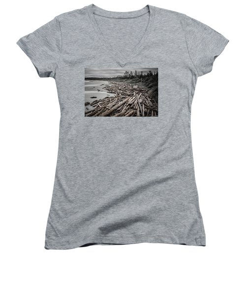 Shoved Ashore Driftwood  Women's V-Neck