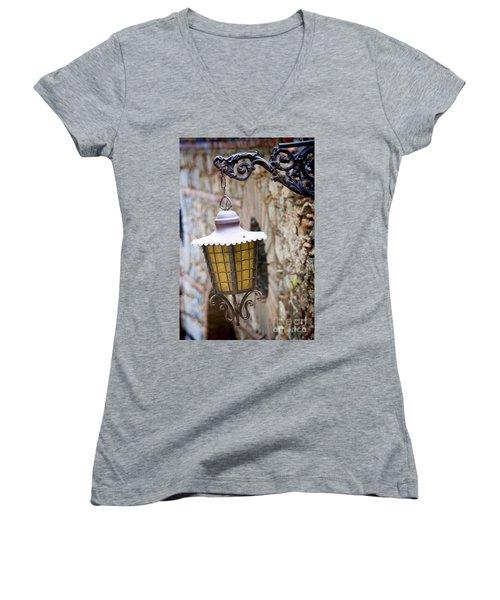 Sicilian Village Lamp Women's V-Neck T-Shirt