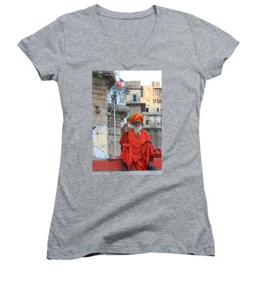 Indian Man Women's V-Neck T-Shirt
