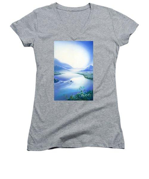 Silence Women's V-Neck T-Shirt (Junior Cut) by Anna Ewa Miarczynska