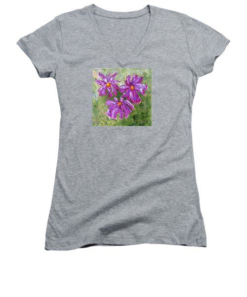 Simple Flowers Women's V-Neck (Athletic Fit)