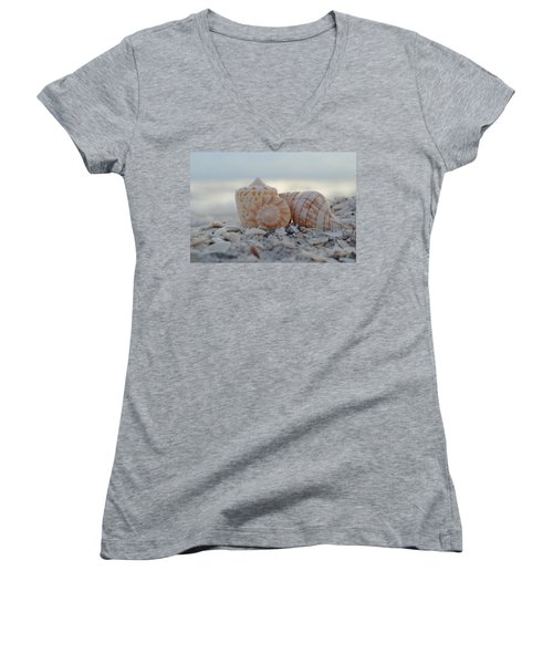 Simplicity And Solitude Women's V-Neck T-Shirt (Junior Cut) by Melanie Moraga