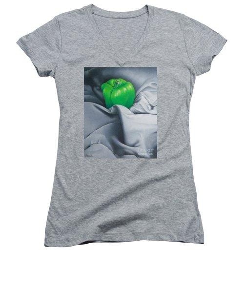 Simply Green Women's V-Neck T-Shirt (Junior Cut) by Pamela Clements