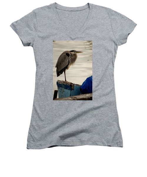 Sittin' On The Dock Of The Bay Women's V-Neck (Athletic Fit)
