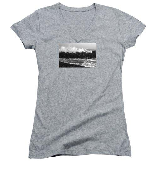 Skagen Waves Women's V-Neck T-Shirt (Junior Cut) by Randi Grace Nilsberg